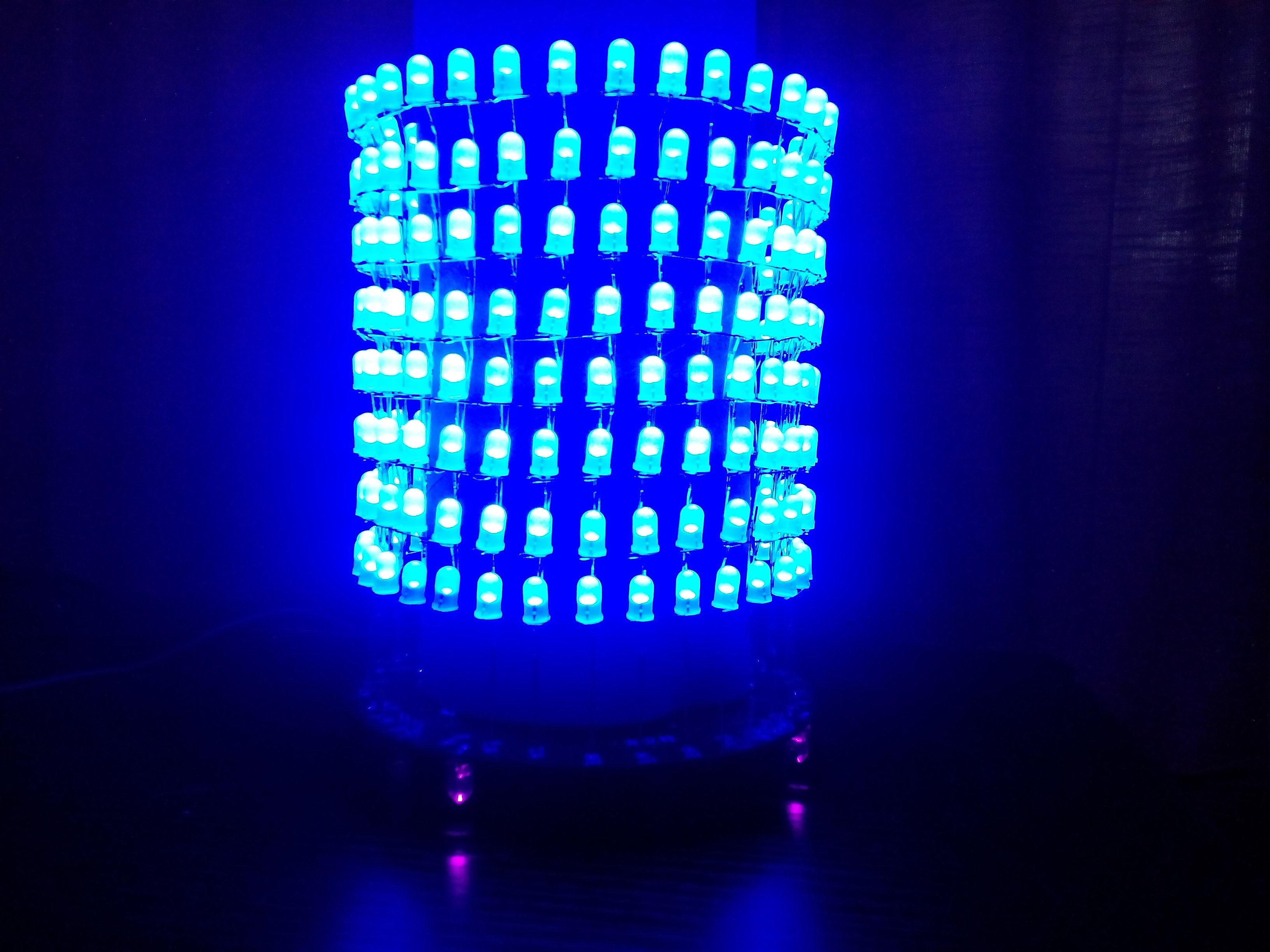 梦幻光立圈 led光立方 音乐频谱8x32圆形点阵电子diy