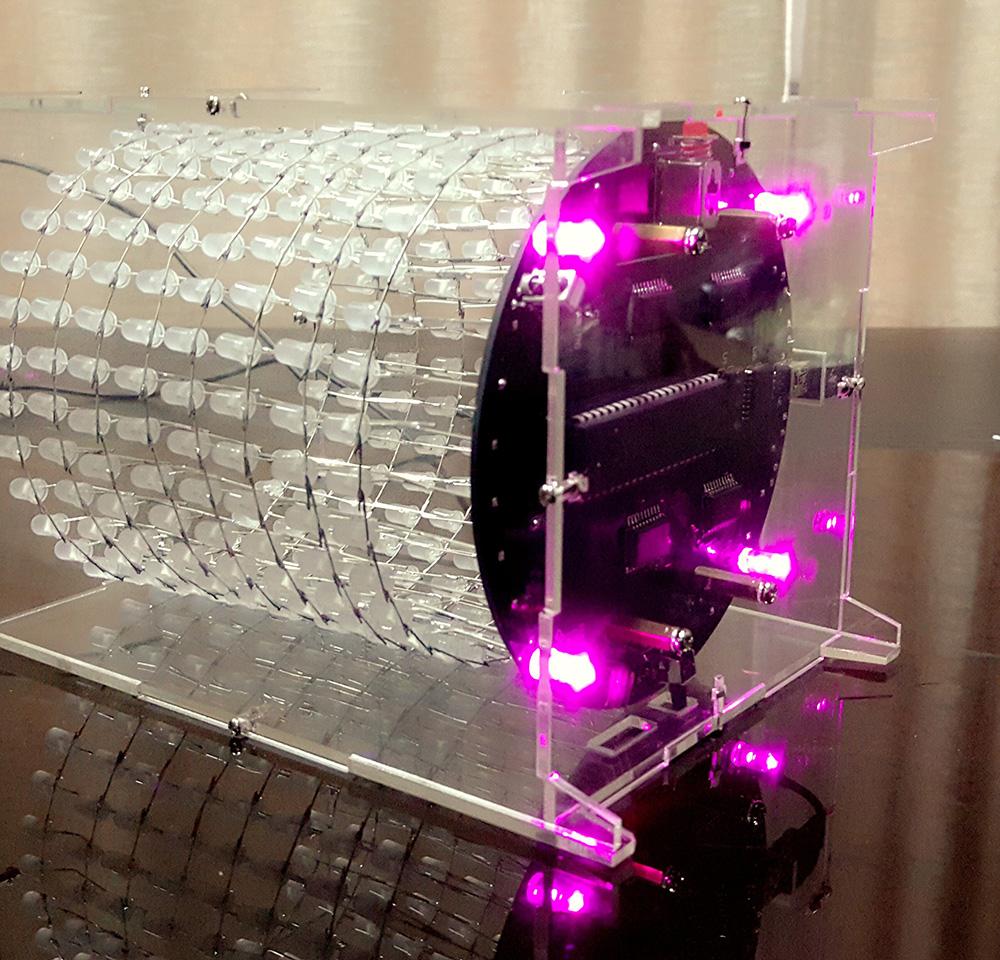 梦幻光立圈 led光立方 音乐频谱8x32圆形点阵电子diy制作套件散件